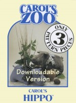 Hippo Pattern - Instant Download - Product Image
