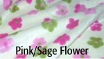 Pink/Sage Flower - Product Image