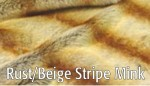 Rust/Beige Stripe Mink - Product Image